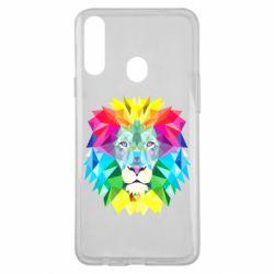 Чехол для Samsung A20s Lion vector
