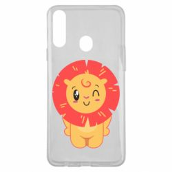 Чехол для Samsung A20s Lion with orange mane