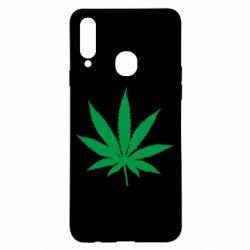 Чохол для Samsung A20s Листочок марихуани