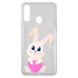 Чехол для Samsung A20s Little rabbit with a heart