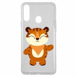 Чехол для Samsung A20s Little tiger with a smile