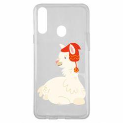 Чехол для Samsung A20s Llama in a red hat