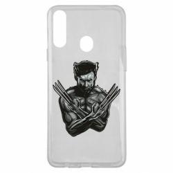 Чехол для Samsung A20s Logan Wolverine vector