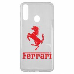 Чохол для Samsung A20s логотип Ferrari