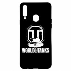 Чехол для Samsung A20s Логотип World Of Tanks