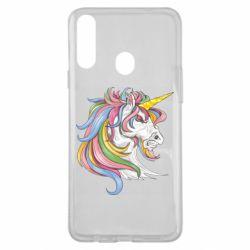 Чохол для Samsung A20s Кінь з кольоровою гривою