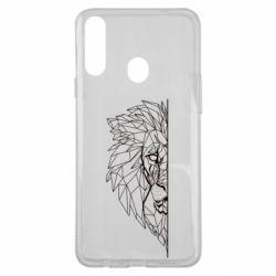 Чохол для Samsung A20s Low poly lion head