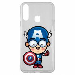 Чехол для Samsung A20s Маленький Капитан Америка