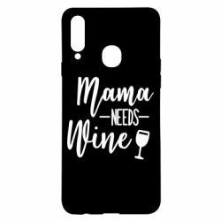 Чехол для Samsung A20s Mama need wine