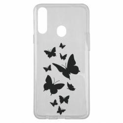 Чохол для Samsung A20s Many butterflies
