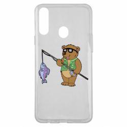 Чохол для Samsung A20s Ведмідь ловить рибу