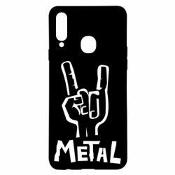 Чехол для Samsung A20s Metal
