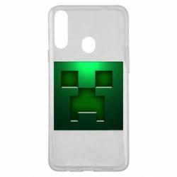 Чехол для Samsung A20s Minecraft Face