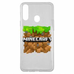 Чохол для Samsung A20s Minecraft Main Logo