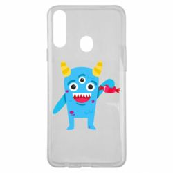 Чехол для Samsung A20s Monster with a candy