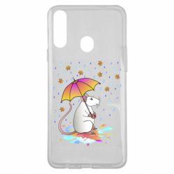 Чохол для Samsung A20s Mouse and rain