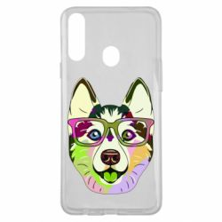 Чохол для Samsung A20s Multi-colored dog with glasses