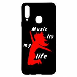 Чохол для Samsung A20s Music it's my life