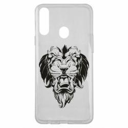 Чехол для Samsung A20s Muzzle of a lion