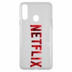 Чехол для Samsung A20s Netflix logo text