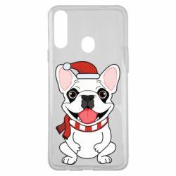 Чехол для Samsung A20s New Year's French Bulldog