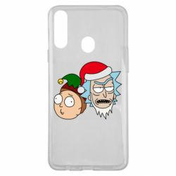 Чехол для Samsung A20s New Year's Rick and Morty