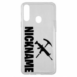 Чохол для Samsung A20s Nickname fortnite weapons