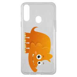 Чехол для Samsung A20s Orange dinosaur