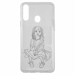 Чехол для Samsung A20s Outline drawing of a little girl