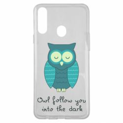 Чехол для Samsung A20s Owl follow you into the dark