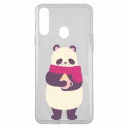Чехол для Samsung A20s Panda and Cappuccino