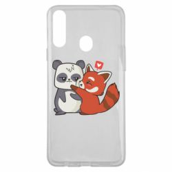 Чохол для Samsung A20s Panda and fire panda
