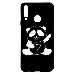 Чохол для Samsung A20s Panda and heart
