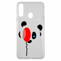 Чехол для Samsung A20s Panda and red balloon