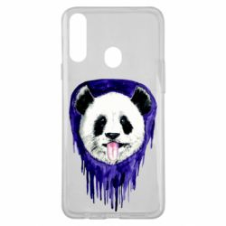 Чехол для Samsung A20s Panda on a watercolor stain