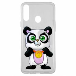 Чехол для Samsung A20s Panda with a medal on his chest