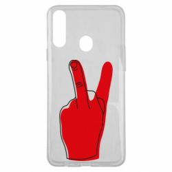 Чехол для Samsung A20s Peace and middle finger