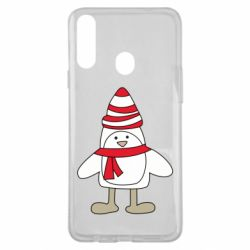 Чехол для Samsung A20s Penguin in the hat and scarf