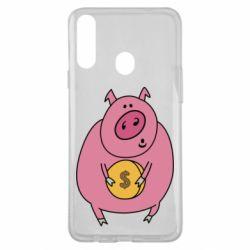 Чохол для Samsung A20s Pig and $