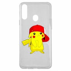 Чехол для Samsung A20s Pikachu in a cap