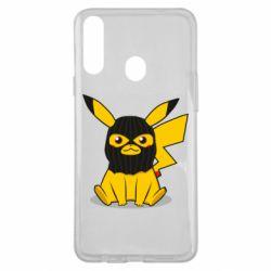 Чохол для Samsung A20s Pikachu in balaclava