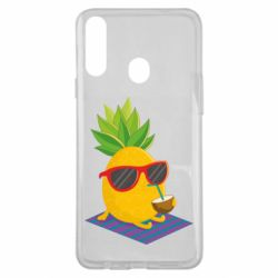 Чехол для Samsung A20s Pineapple with coconut