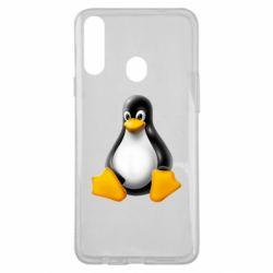 Чохол для Samsung A20s Пингвин Linux