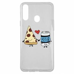 Чохол для Samsung A20s Pizza and beer