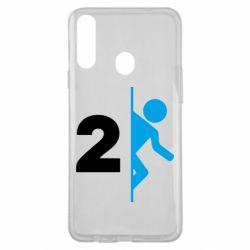 Чехол для Samsung A20s Portal 2 logo