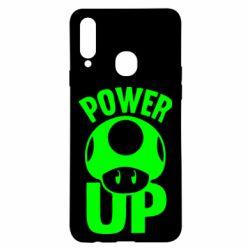 Чехол для Samsung A20s Power Up гриб Марио