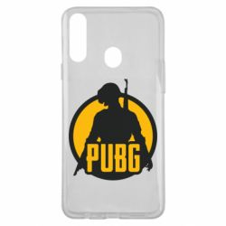 Чехол для Samsung A20s PUBG logo and game hero