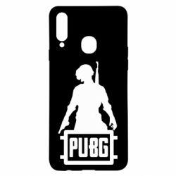 Чехол для Samsung A20s PUBG logo and hero