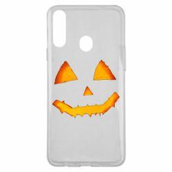 Чохол для Samsung A20s Pumpkin face features