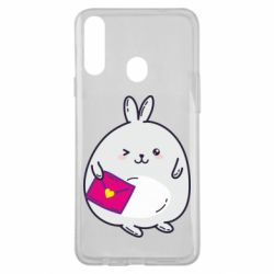 Чохол для Samsung A20s Rabbit with a letter